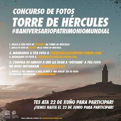 📷 ¿Tienes curiosidad por saber cuál es la foto más antigua de la Torre de Hércules? Si quieres descubrirlo te animamos a participar y a difundir nuestro concurso de fotos de antaño (hasta 1987). #curiosidades #TorredeHércules #8aniversarioPatrimonioMundial Towers, Antigua