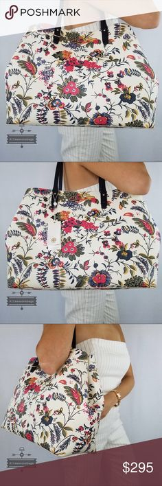 8a1986b1d14e Tory Burch Kerrington Square Tote Gabriella floral Please check dimensions  before purchase