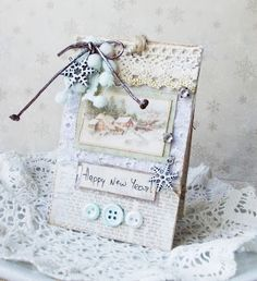 mini card  happy new Year Pion Designs