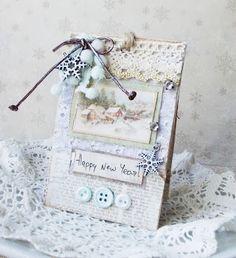 mini card  happy new Year Pion Designs