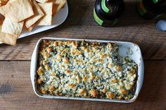 Spinach, Feta, and Artichoke Dip, a recipe on Food52