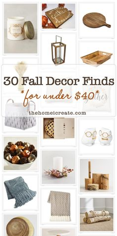 Fall Decor Finds all under $40! Plus they can also work for winter home decor as…