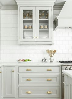 Brass Kitchen Cabinetry Hardware - Room For Tuesday