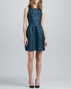 Jewel-Neck+Sleeveless+Jacquard+Dress+by+Shoshanna+at+Neiman+Marcus.