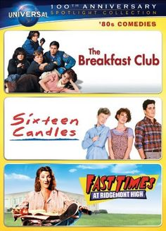 80s Comedies Spotlight Collection [The Breakfast Club Sixteen Candles Fast Times at Ridgemont High @ niftywarehouse.com #NiftyWarehouse #BreakfastClub #80s #BreakfastClubMovie #Films #Comedies #BratPack