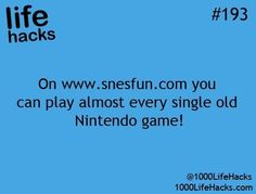 Yay for old school games!