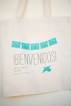 mexico wedding welcome bag. photo by amybennettphoto.com