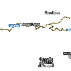 """Wikiloc - percorso """" Percorso Ciclo Trekking """" (Tour eco-turistico in MtB nella Valle del Miscano ) - Casalbore, Campania (Italia)- GPS track"""