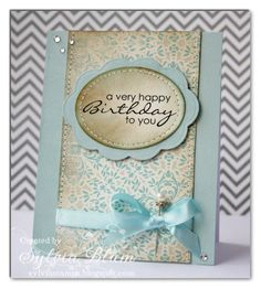 You could use your favourite DP or B&T paper for this card & team it with a sentiment to suit your recipient & occasion.