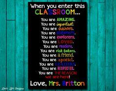Classroom Decor. Gift for Teacher. Classroom by LittleLifeDesigns