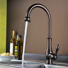 Tracier Single Handle Gooseneck Vintage Kitchen Sink Faucet - Kitchen Faucets - Faucets