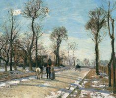 Camino de Versalles-Louveciennes-sol-de-invierno-y-nieve