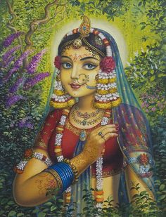 Shree Radharani Painting by Vrindavan Das from Vrindavan, India