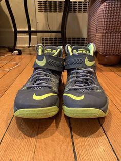 5d22911e7e3 Size 10.5 Grey Neon Green Nike Lebron James Soldier 8 High Top Basketball  Shoes