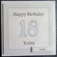 Personalised Male 21st Handmade Birthday Card - SC63 £2.75