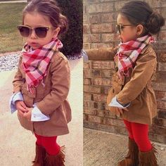 Cuteness toddler dressed so chic!