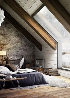Attic Bedroom by Mukesh Raj - Architecture and Home Decor - Bedroom - Bathroom - Kitchen And Living Room Interior Design Decorating Ideas - Attic Bedroom Decor, Attic Bedroom Designs, Attic Bedrooms, Attic Design, Interior Design, Attic Bathroom, Room Interior, Bedroom Ideas, Bathroom Green
