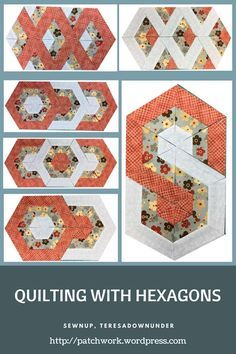 Video tutorial: Quilting with hexagons - 3 layouts This duvet – workout routines includes a Quilting For Beginners, Quilting Tips, Quilting Tutorials, Quilting Projects, Quilting Designs, Hexagon Quilt Pattern, Hexagon Patchwork, Quilt Block Patterns, Quilt Blocks