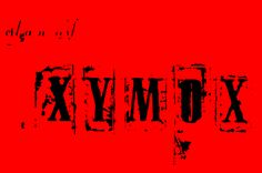 Logo: ClanOfXymox.pbm.Z Post Punk, Sound Of Music, Typography, Design, Letterpress, Letterpress Printing, Fonts, Printing