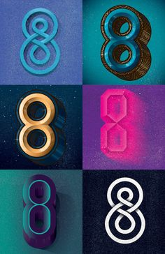 Creative Numbers, Shiro, Kuro, and Typography image ideas & inspiration on Designspiration Design Typo, Type Design, Typography Design, Logo Design, Graphic Design, Creative Typography, Print Design, Types Of Lettering, Hand Lettering