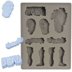 The Walking Dead Ice Cube Tray Adds a Zombie Flair to Any Drink #icecubes #colddrinks trendhunter.com