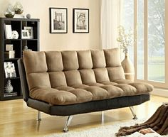 #ambfurniture.com         #sofa                     #Tone #Espresso #Brown #Easy #Rider #Finish #Quilted #Upholstered #Padding #Adjustable #Futon #Sofa     2 Tone Espresso PU and Brown Easy Rider Finish Quilted Upholstered Padding Adjustable Futon Sofa                                  http://www.seapai.com/product.aspx?PID=1307001
