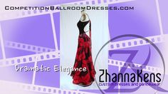 """Competition Ballroom Dress """"Dramatic Elegance"""" by Zhanna Kens http://www.CompetitionBallroomDresses.comhttp://www.ZhannaKens.com"""