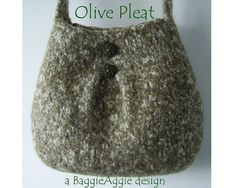 INSTANT DOWNLOAD Felted Purse Pattern PLEAT Felted di baggieaggie