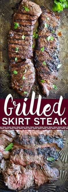 Simple marinated grilled skirt steak from What The Fork Food Blog | http://whattheforkfoodblog.com