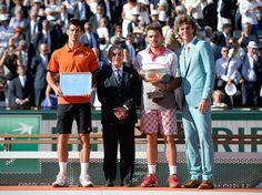 Djokovic Novak and Wawrinka Final ceremony Open de France / Roland Garros 2015  ATP Nole