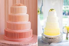Ombre inspired wedding cake (gradual shading)