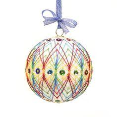 Christmas Ornament inspired on Japanese art Temari. Hand Made by JoeyART