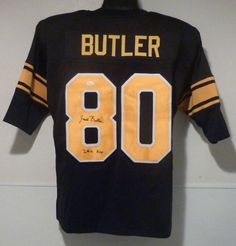 Jack Butler Autographed Pittsburgh Steelers Black Size XL Jersey w