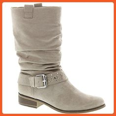 Unlisted Womens ZAP THAT Almond Toe Fashion Boots, Beige, Size 6.5 - Boots for women (*Amazon Partner-Link)