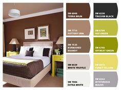 Colores relajantes para combinar con café y paredes cafés.