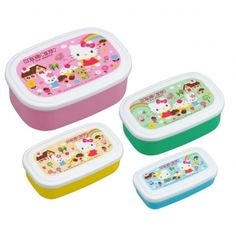 Microwavable Nested Food Container 4 Bento Boxes Hello Kitty