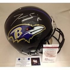 #BaltimoreRavens #RayLewis (CLICK IMAGE TWICE FOR UPDATED PRICING AND INFO) Torrey Smith Signed Helmet - Authentic Full Size JSA COA - Autographed NFL Helmets