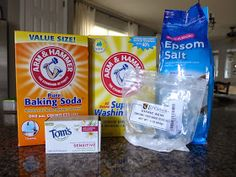 DIY Laundry Soap with Epsom Salt (built in fabric softener) and without Borax:  1 ½ c Washing Soda, 1 c Baking Soda, ¼ c Epsom Salts, 1 bar of soap (I used Tom's of Maine), ½ c Citric Acid. Use 1Tsp for large load of laundry.