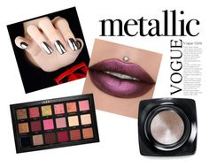 """""""Metallic Mood"""" by rainbowsprinkles321 ❤ liked on Polyvore featuring beauty, Huda Beauty and Bobbi Brown Cosmetics"""