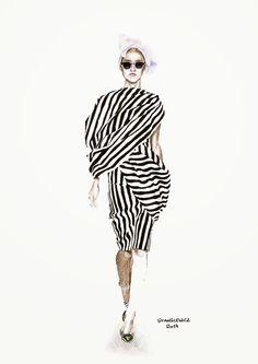 Illustrations by Aleksandra Stanglewicz: fashion illustration