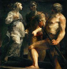 Giuseppe Maria Crespi - Aeneas, the Sibyl, and Charon, c. 1695–1705.