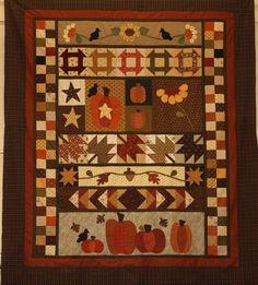 Never Enough Pumpkins quilt.  A Couple of Sisters Designs.