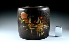 Japanese Traditional Lacquered Hibachi - Japanese Traditional Lacquered - Antique Wooden Brazier
