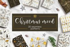 Cristmas mood - pattern set by Miraclesshop on @creativemarket