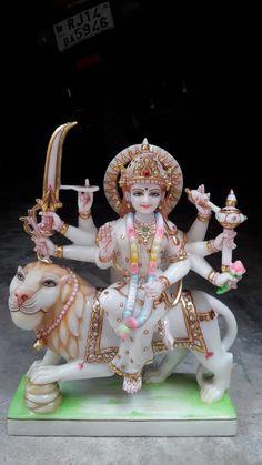 Indian Goddess Kali, Durga Goddess, Indian Gods, Goddess Art, Shiva Shakti, Durga Maa, Saraswati Devi, Navratri Puja, Happy Navratri Images