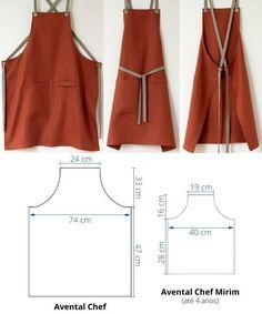 Bag Patterns To Sew, Dress Sewing Patterns, Clothing Patterns, Sew Pattern, Sewing Aprons, Sewing Clothes, Diy Clothes, Dyi Couture, Couture Sewing