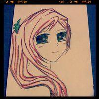 Manga girl portrait