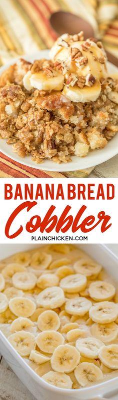 Banana Bread Cobbler - Plain Chicken
