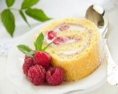 Gâteau roulé aux framboises sans beurre