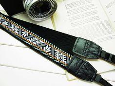 black oriental camera strap